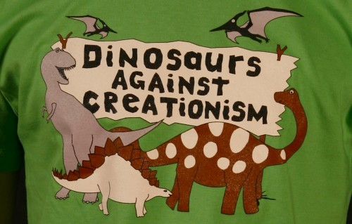 Dinosaurs against creationism! source