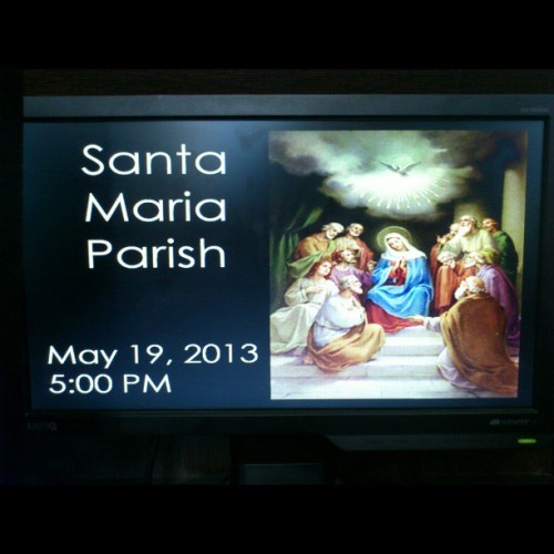 The Mystery of Pentecost (at Sta. Maria Parish Church Our Lady Of China)