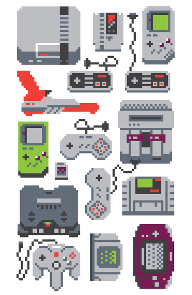 it8bit:  A Pixel of my Childhood Prints available on Society6 Created by MeleeNinja