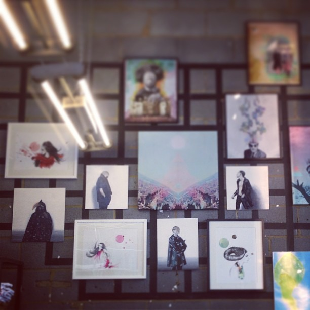 Some of my paintings are on display at Urban Outfitters, Guildford.