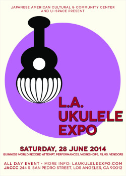 Los Angeles Ukulele Expo 2014, Little Tokyo, LA. (via Japanese American Cultural & Community Center (JACCC)