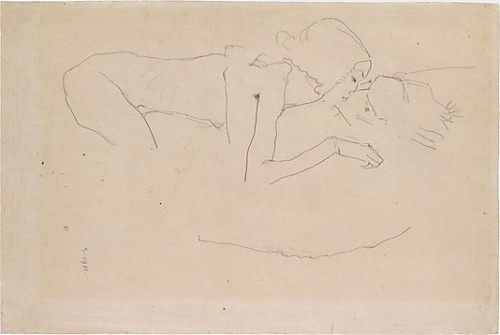 The Kiss, 1915 by Egon Schiele.