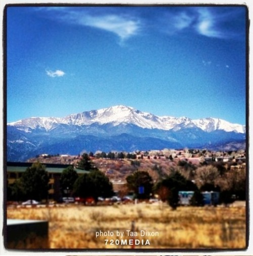 Colorado Springs - 720MEDIA / View of Pikes Peak coming back from website design meeting.