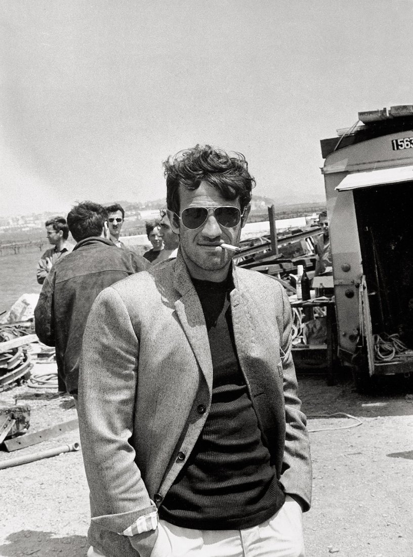wandrlust:  Jean-Paul Belmondo on the set of Pierrot le Fou, 1965 — Tony Grylla