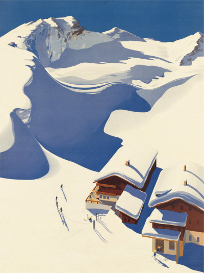 Austria, Ski Lodge in the Alps (1937) by Erich von Wunschheim