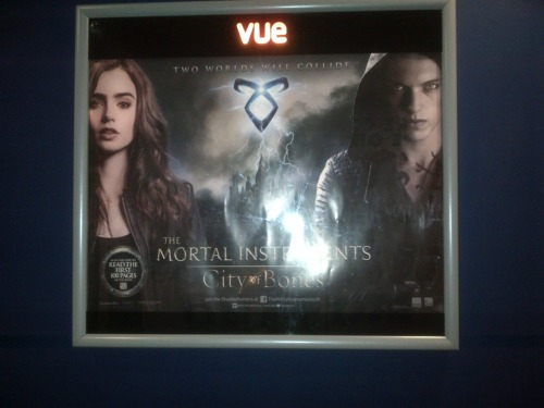 ratherbecausingthechaos:  City of Bones poster in Oxford England!