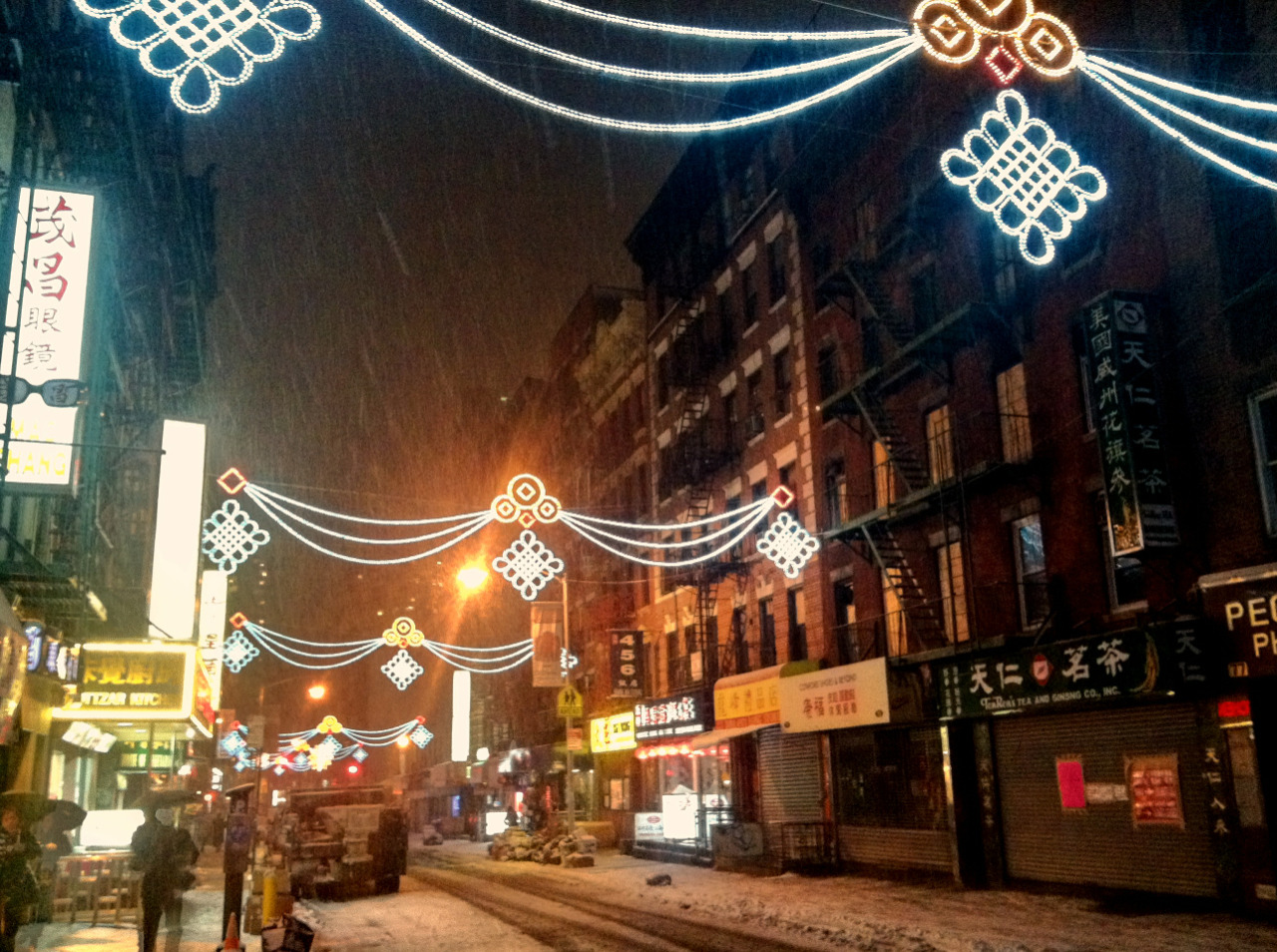 Earlier this evening, on Mott St