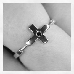 Another great piece I bought today :) #ring #cross #jewelry #silver