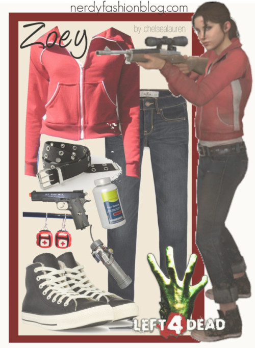 [GiG 07] Zoey | Left 4 Dead by chelsealauren10   Converse  shoes, / Jacket