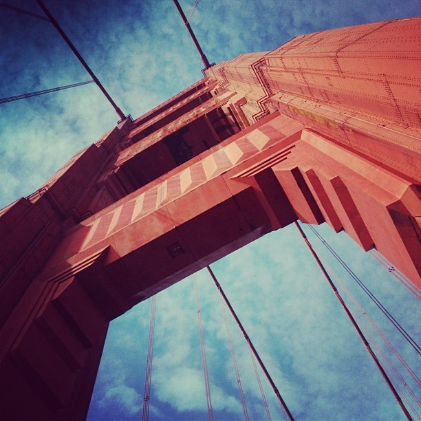 Looking up at ya  (at Golden Gate Bridge)