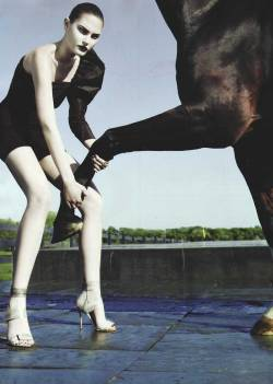 Catherine McNeil photographed by Steven Klein for Vogue, August 2008