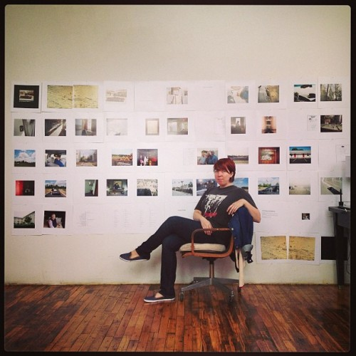 Self-portrait with book layout. #MTRRTMY #photobook #studiodayz