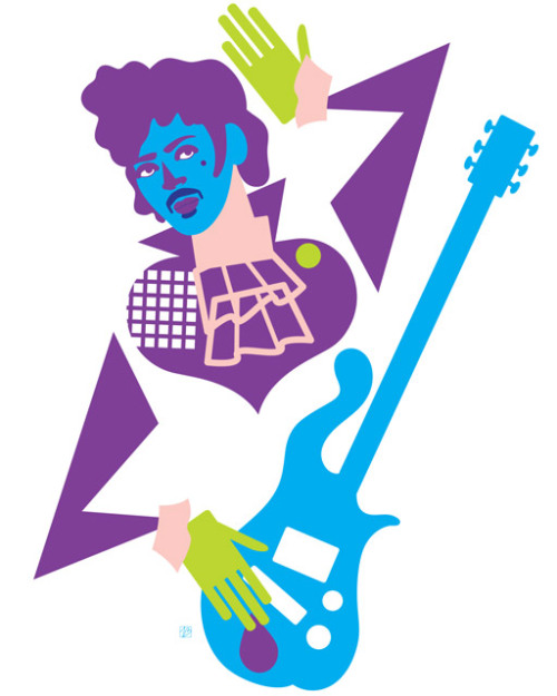 Illustration from my ongoing series, Pop 'n' Fresh. Presenting, Prince.