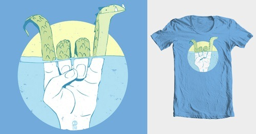 Rock Ness Monster by oddling22 is up for scoring on Threadless! Which other creatures will you uncover while scoring design submissions? We could tell you, but that would be no fun! Score some subs!