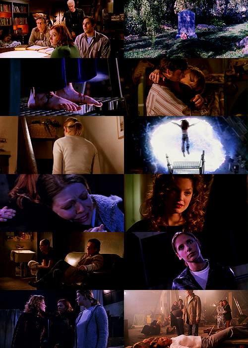 "ofsummers:   btvs screencap meme- three finales [1/3] ↳the gift  ""buffy anne summers. 1981-2001. beloved sister. devoted friend. she saved the world a lot."""