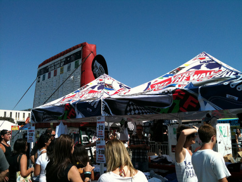 distr4ct:  Vans Shoes Tent by Warped Tour on Flickr.
