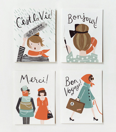 typejunkie:  (via Rifle Paper Co. - Assorted French Cards)