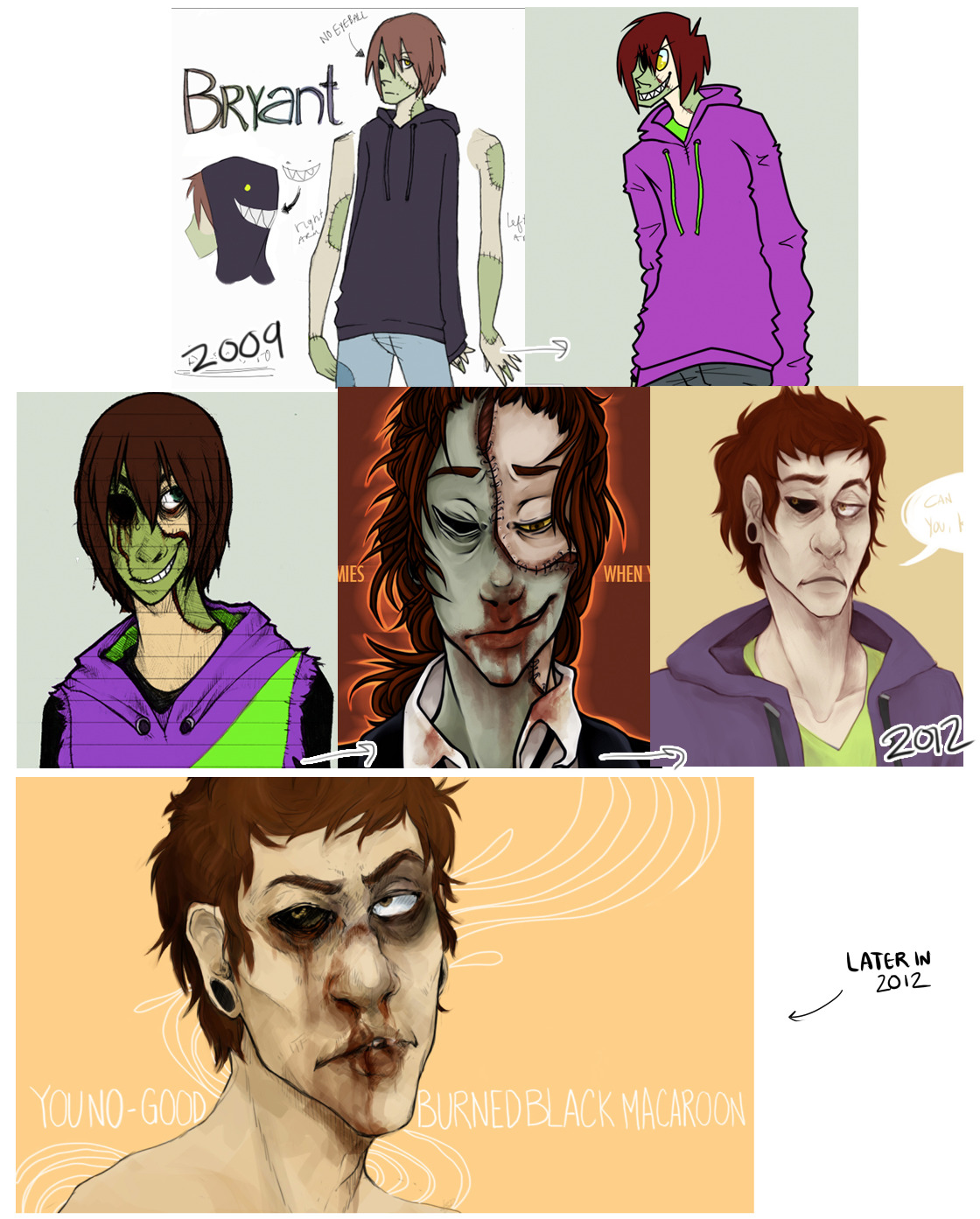 artistimprovment:  Improvement of my first real OC? Haha, don't have a 2013 example yet really, don't draw him nearly enough c: