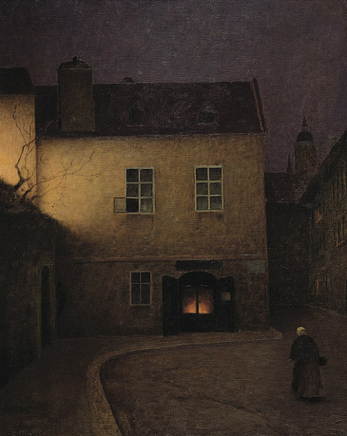 poboh:  Evening Prague, 1902-1905, Jakub Schikaneder. (1854 - 1922)