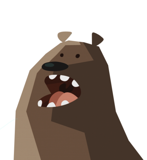FRUSTRATION BEAR GO.