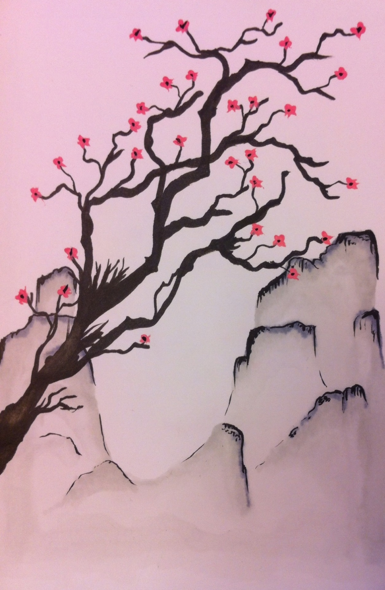Cherry blossom illustration.