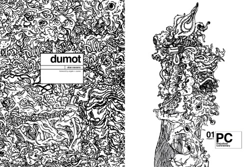 """Dumot"" is a graphic novel about a man imploding in his corner of the corporate world. It presents fragments of that man's aggression: his inner demons, state of mind, and physical being as he tries to make sense of the things inside his head while dealing with the rigors of working in a challenging atmosphere.Click here or on the image to read through a few pages for free here."