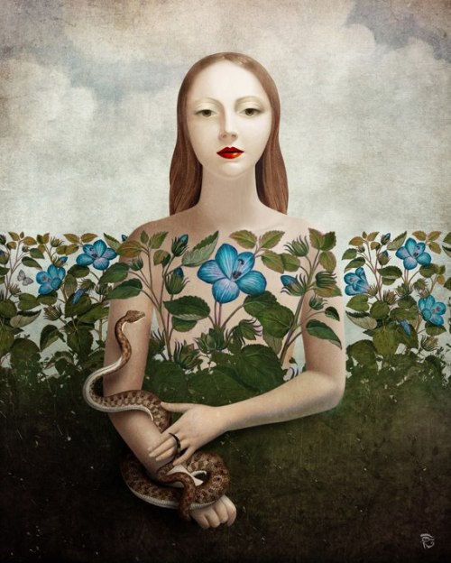 art-and-fury:  Eva and the Garden - Christian Schloe