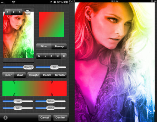 Gradients App for iPhone and iPad - stylize photos using the power of 46 gradient filters (free)
