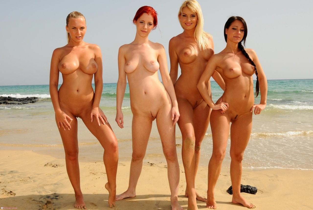 Sexy naked women group nude girls