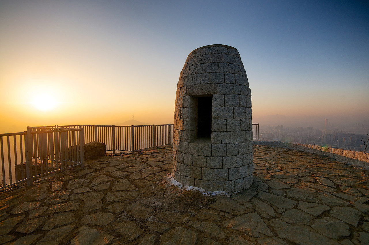 Mt. Ansan signal fire, used to alert the royal capital of Seoul of approaching threats during the Joseon Dynasty.