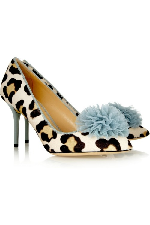 not at all too much  Charlotte Olympia | Desirée leopard-print calf hair pumps
