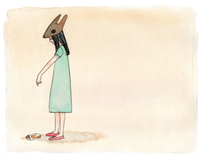 tumblropenarts:  Egg and the Rabbit Hat Watercolor on paper 24×30cm Homepage/facebook/society6/Tumblr Artist promotion is available on society6 for limited time, click here to get it!→▲  (Y)