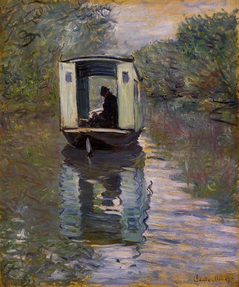fleurdulys:  The Studio Boat - Claude Monet 1876
