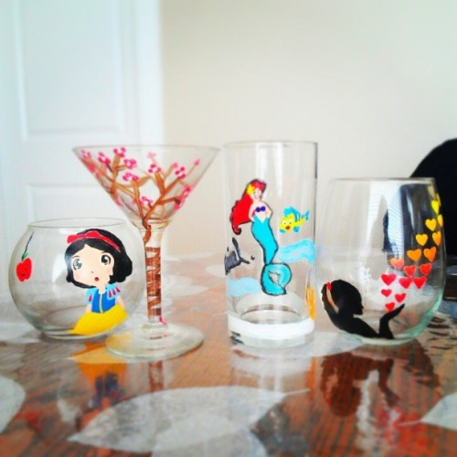 Painting glasswares with @juliee_vo @amandar_t @janine_9