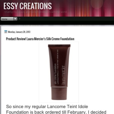 Product review of Laura Mercier's silk Creme foundation 👉 essycreations.blogspot.com#makeup #lauramercier #foundation #nordstrom #sephora #makeupaddict #ootd #ootn #dailys