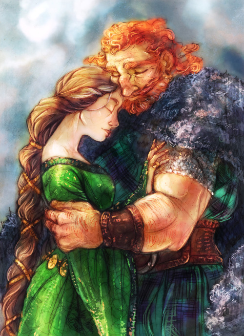mistytang:  Elinor and Fergus by *MistyTang Finished piece! God this one was fun. <3