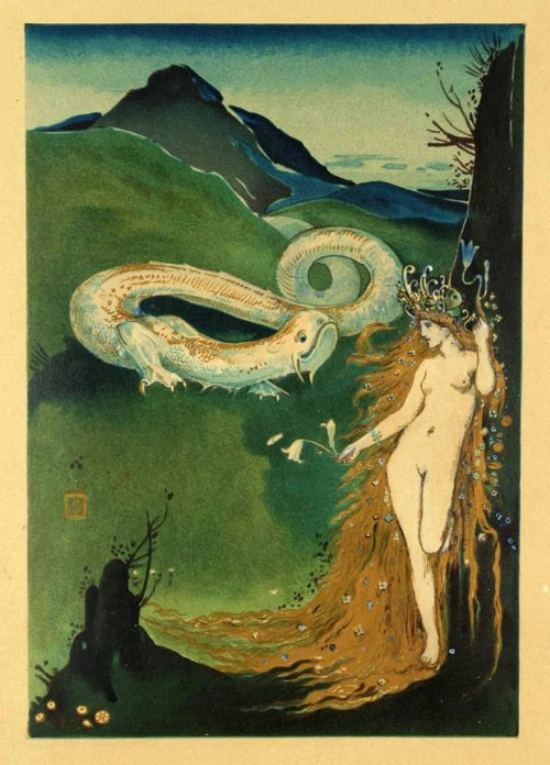 colourthysoul:  Charles Ricketts - Frontispiece to 'The Dial' (1886)