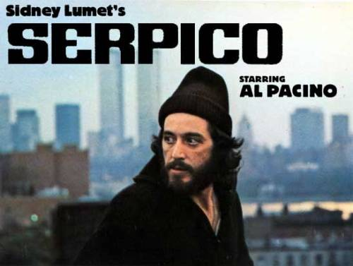 Sidney Lumet' Serpico (1973) is regarded as one of the best 'cop' films ever made, and there have been a hell of a lot of terrible ones thats for sure. But really, Serpico is not only a film to be admired for it's terrific performance from Al Pacino, but also the fact that his depiction is one of a true story.  I've always been fascinated by films that involve crime, whether it's people fighting it or working in it. Serpico is a great film that follows a mans journey through his joining of the NYPD as a young naive recruit to a shady veteran who is paranoid towards people he should be calling his co-workers.  It's a film that helped define genre's but far more than that, it's a great story that ok, at times spends too much time on delivering it's material, but has a great performance by Pacino and a great direction from Sidney Lumet.