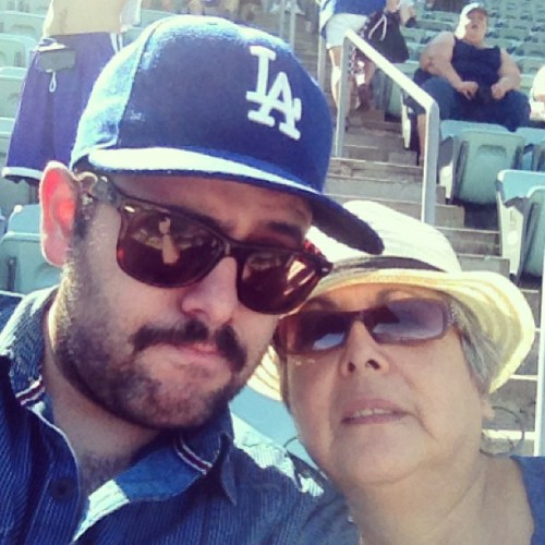 Unfortunately, this photo didn't capture my mom yelling at the Dodgers.