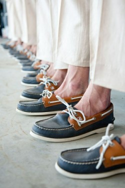 theconnecticutprep:  Groomsmen in Sperry's.