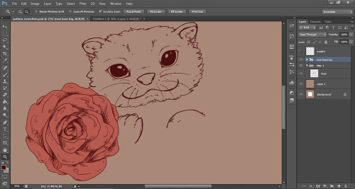fallenzephyrart:  WIP because roses and otters