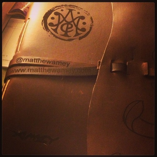 My new leather-bound tattoo portfolio. #matthewamey #laseretched #geckoimagelaserworks