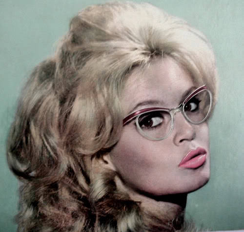 Bardot in glasses