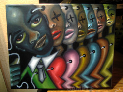 """The Ladies Man"" - Oil painting by  Ladessa Sullivan / CandyAcidReign"