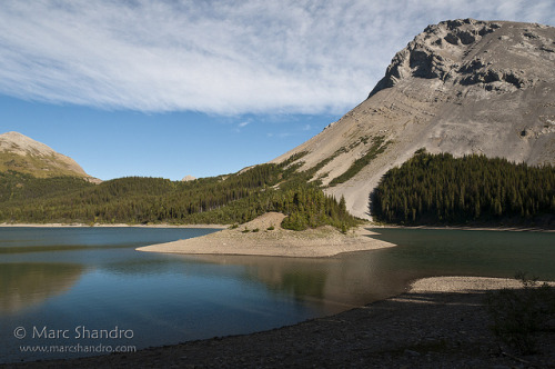 Three Isle Lake Kananaskis on Flickr.Via Flickr: Setting off in the morning on a beautiful day to hike along Northover Ridge to our next camp at Aster Lake. Across the lake you can see the South Kananaskis Pass where we had come from the previous day.