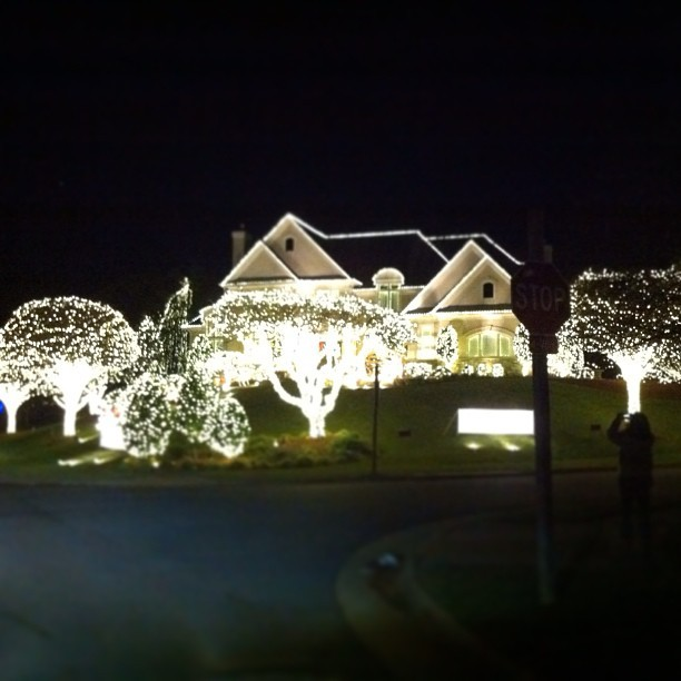 Christmas lights in Virginia.