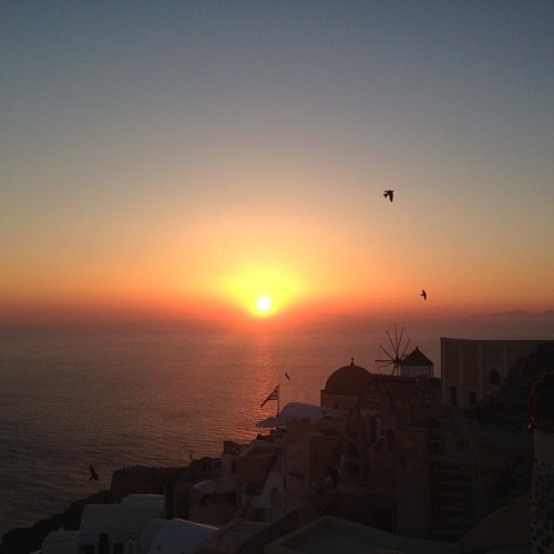 Can't get enough. #santorini #greece #sunset #nofilter