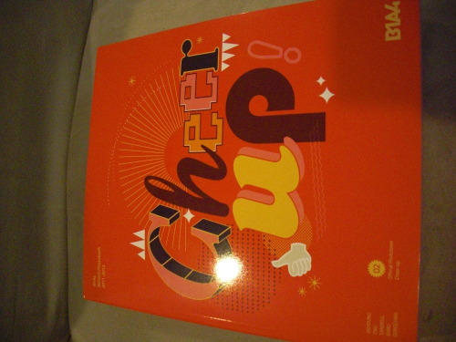 :D my b1a4 cheer up photobook arrived last friday ( apologies for late feedback ) Thank you very much Roseane! I was afraid it would sell out very quickly, so I had my sister put in the order for me while I went to school.(: