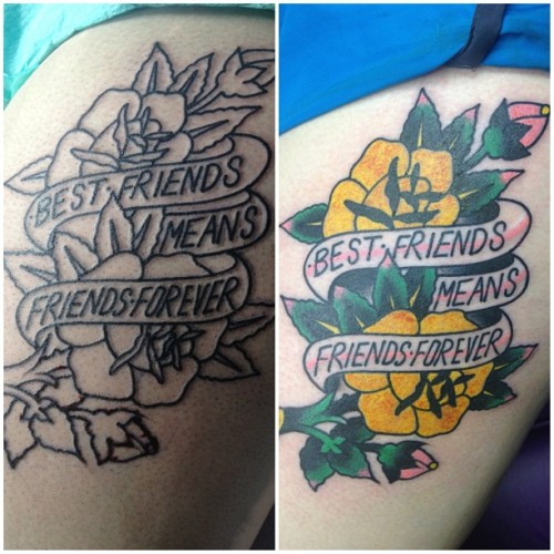 fuckyeahtattoos:  I got my tattoo in Cape Coral, Florida at Forever Tattoo by Mark Stewart. One of my favorite songs by Brand New is Seventy times 7. I also got this for my best friend of 8 years.