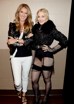 Madonna and Celine Dion backstage at the 2013 Billboard Music Awards - May 19th.